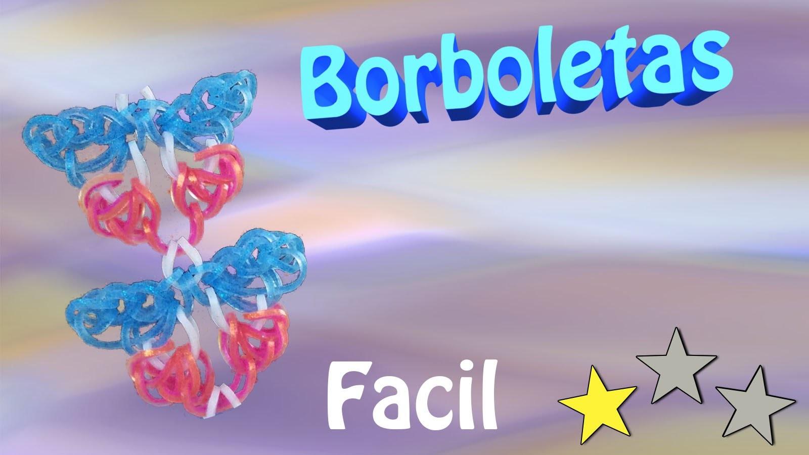 Mariposas ou Borboletas de Elasticos para Pulseiras ou Pingente sem tear