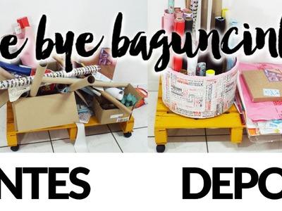 O que fazer com rolo de papel higiênico -► Organizar Papéis!