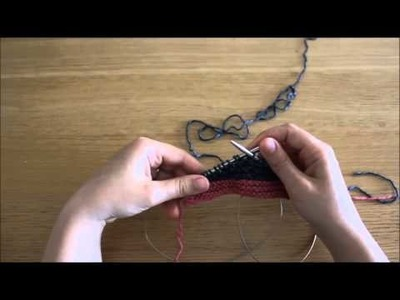 Querido tricot - carreiras encurtadas (short rows; wrap and turn)