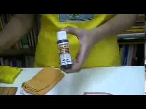 Técnicas Corfix - Miniaula de envelhecimento em madeira.