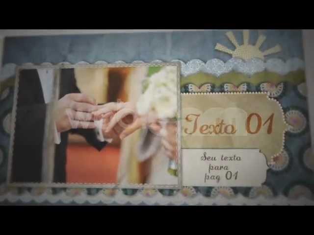 Album em Scrapbook para casamento