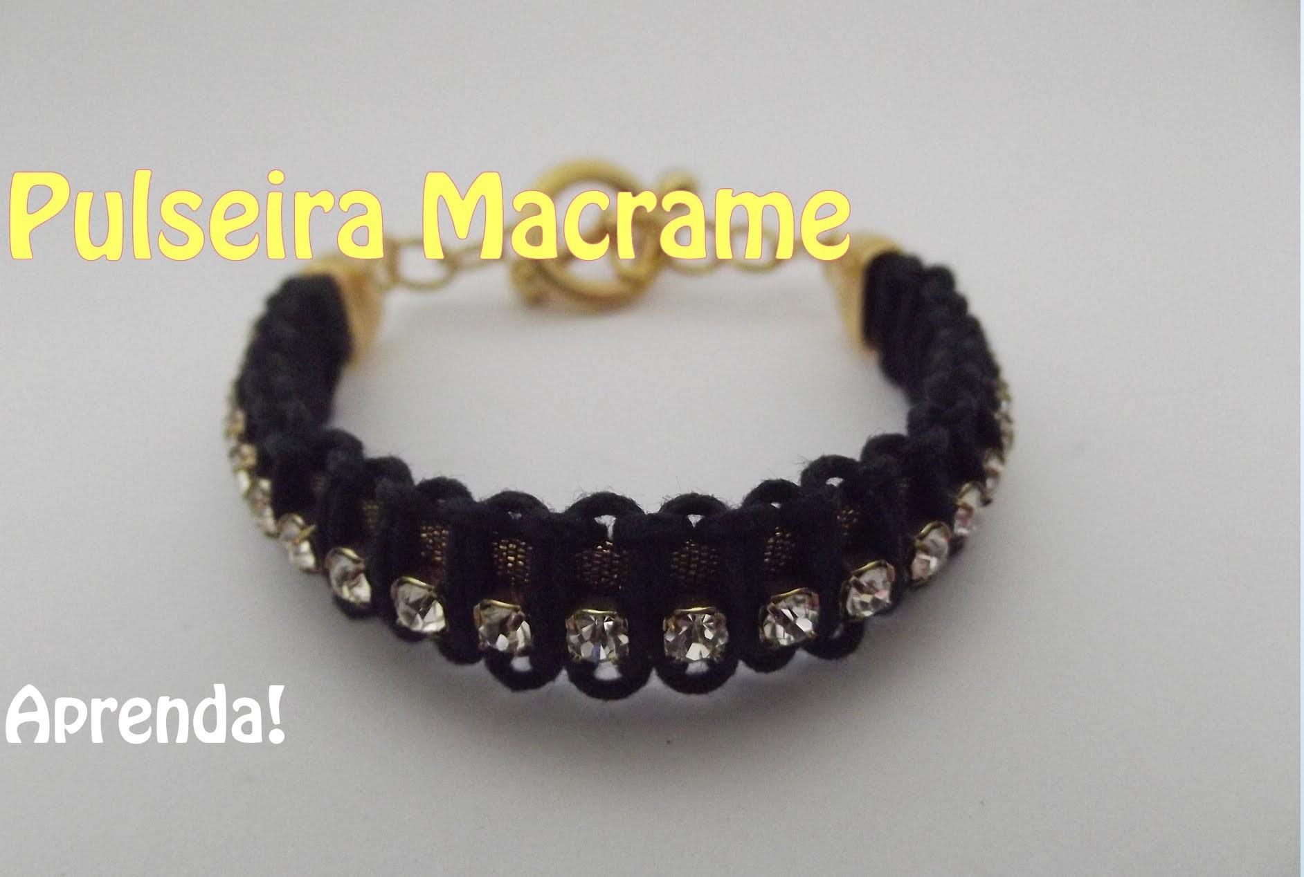 Aprenda como fazer pulseira Macrame