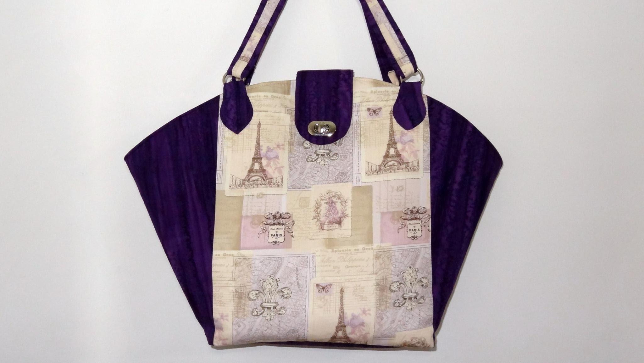 Bolsa.sacola Loren - Bolsa.sacola em tecidos - Maria Adna Ateliê - Aula de bolsa.sacola