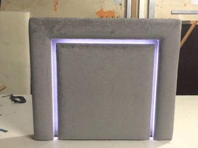 Cabeceira estofada com iluminação de led. Project estofados