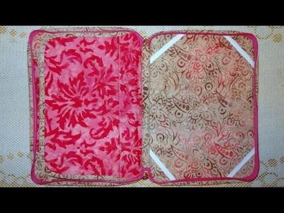 Capa para tablet em tecidos batik - Maria Adna Ateliê - Aula de capa para tablet - Capa para tablet