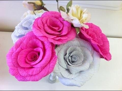 Como fazer flores de papel crepom