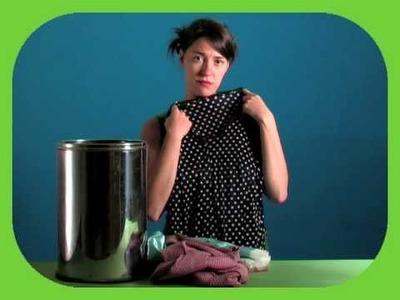 Como reciclar roupa sem máquina de costura (exemplo 1)