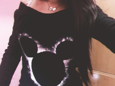 Customizando blusa.moletom : Estampa do mickey |
