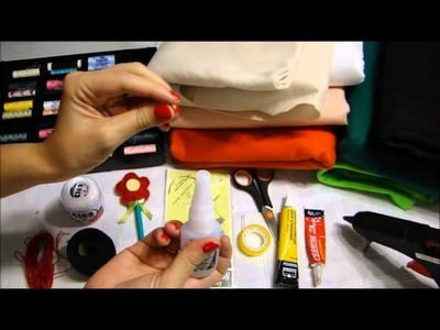 Dicas para iniciantes e material  que eu uso: feltro, linhas, agulhas, colas.