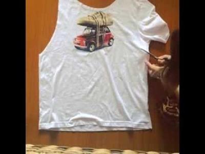 DIY Transforme sua camiseta em uma regata cavada