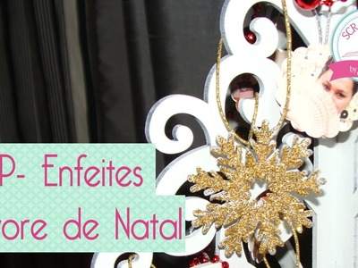 Enfeite arvore de natal scrapbook by Tamy