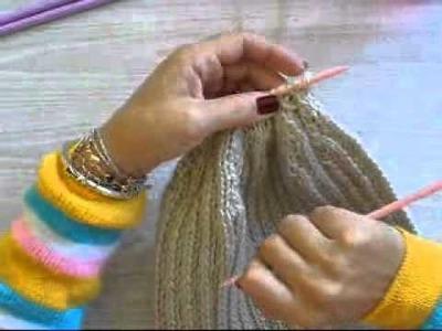 Hilda Eroles - vídeo 38  -  touca com barra de pelos