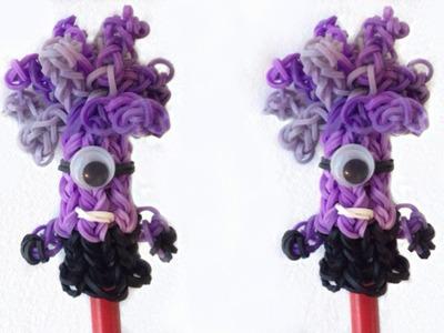 Minion Malvado de Elástico Topo de Lápis (sem tear) Minion Pencil Topper Loom Bands | Igor Saringer