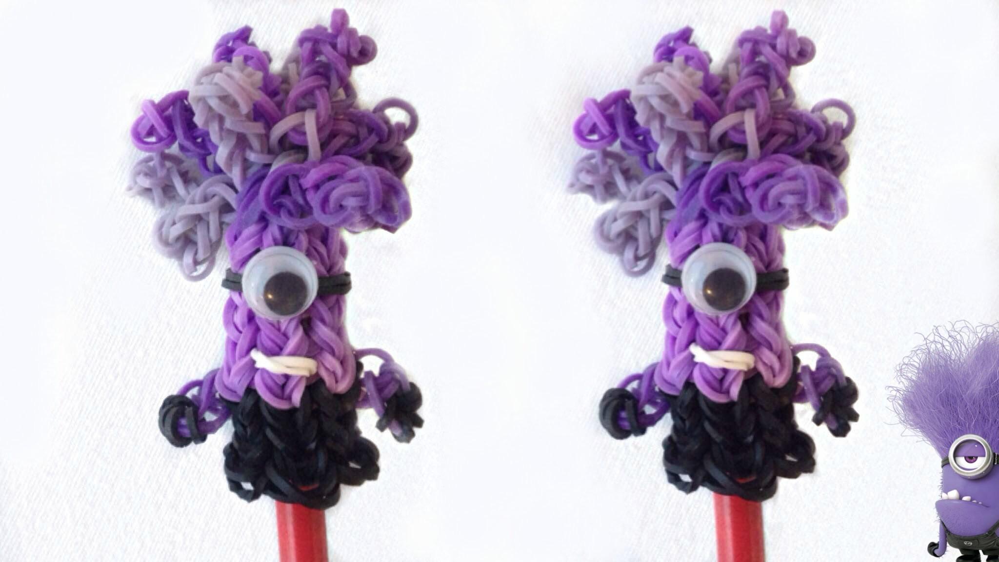 Minion Malvado de Elástico Topo de Lápis (sem tear) Minion Pencil Topper Loom Bands   Igor Saringer
