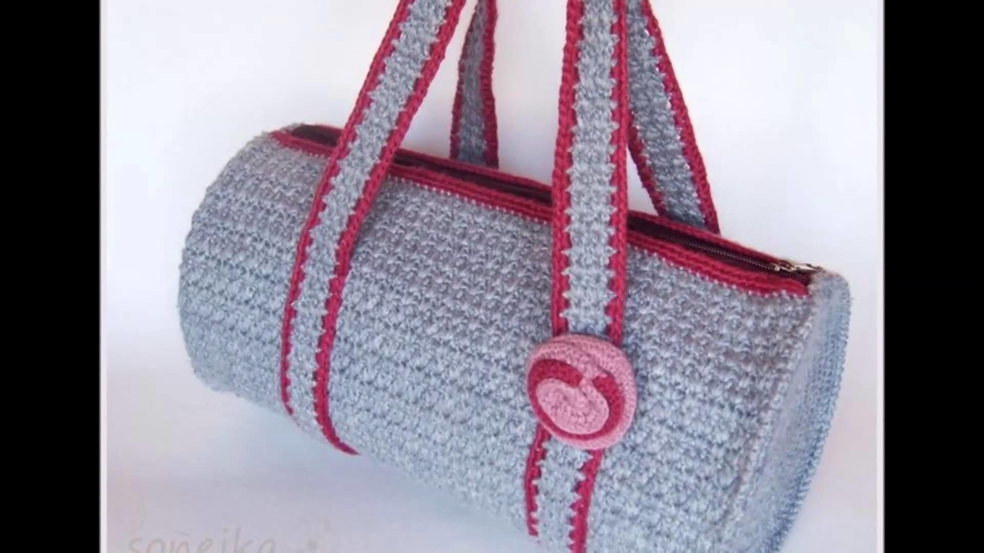 Modelos de bolsos con tiras a crochet