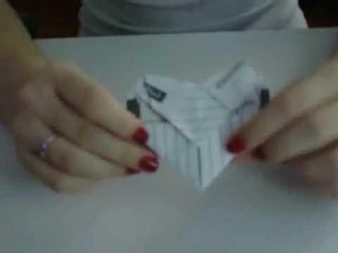 Origami: carta em formato de coração (heart shaped letter)