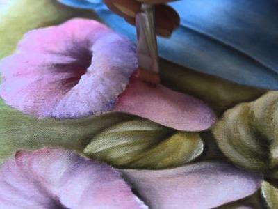 """Pintura em tecido Eliane Nascimento: Projeto """"Caneca com Campanulas"""""""