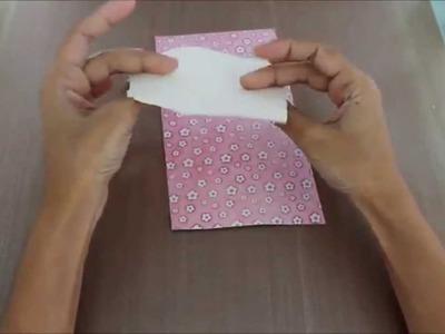 [Quinta das FMT]: Tecido estampado com papel de scrapbook