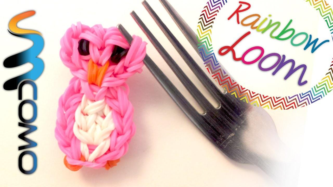 Rainbow Loom - Coruja (Com dois Garfos)