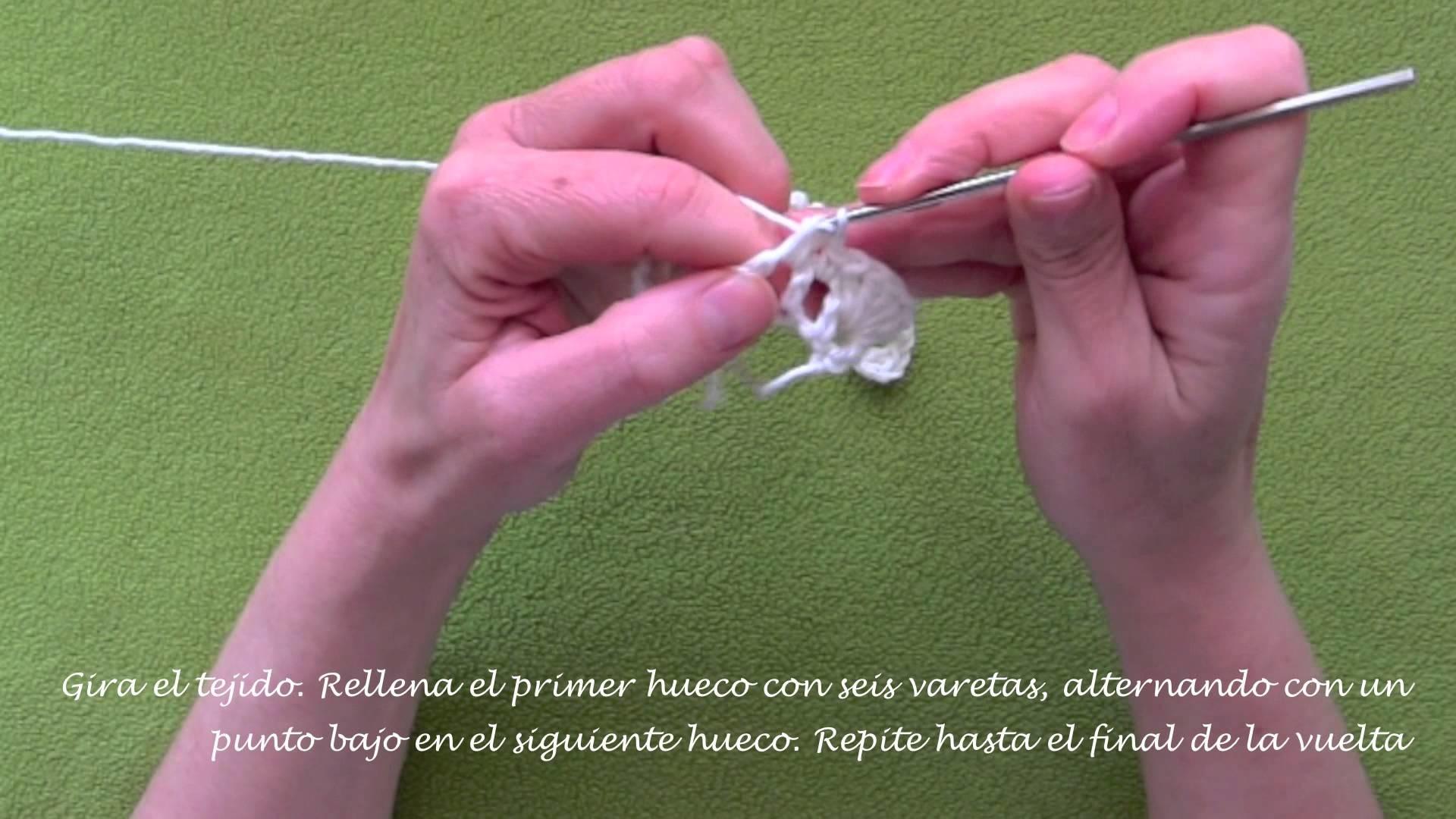 Rosa fácil de crochet