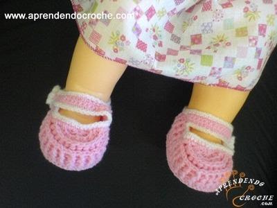 Sapatinho para Bebê em Croche Ingrid - 2º Parte - Aprendendo Crochê