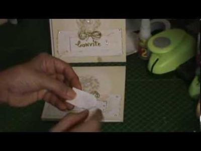 SCRAPBOOKING: Convite de casamento tutorial parte 2