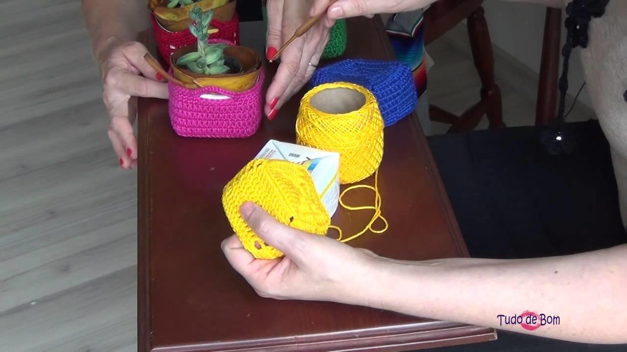 TUDO DE BOM 25 e 26.12.14 Cachepot crochet-Corais-mensagens natalinas