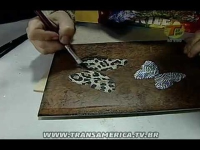 Tv Transamérica - Artesanato: Técnica de imitação de couro e decoupagem - Parte 2