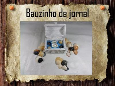 17 - Artesanato e reciclagem DIY - Bauzinho de jornal - Treasure chest made of newspaper