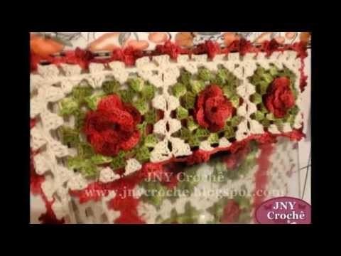 """Capa de fogão e outros produtos modelo """"Meu Jardim"""" por JNY Crochê"""