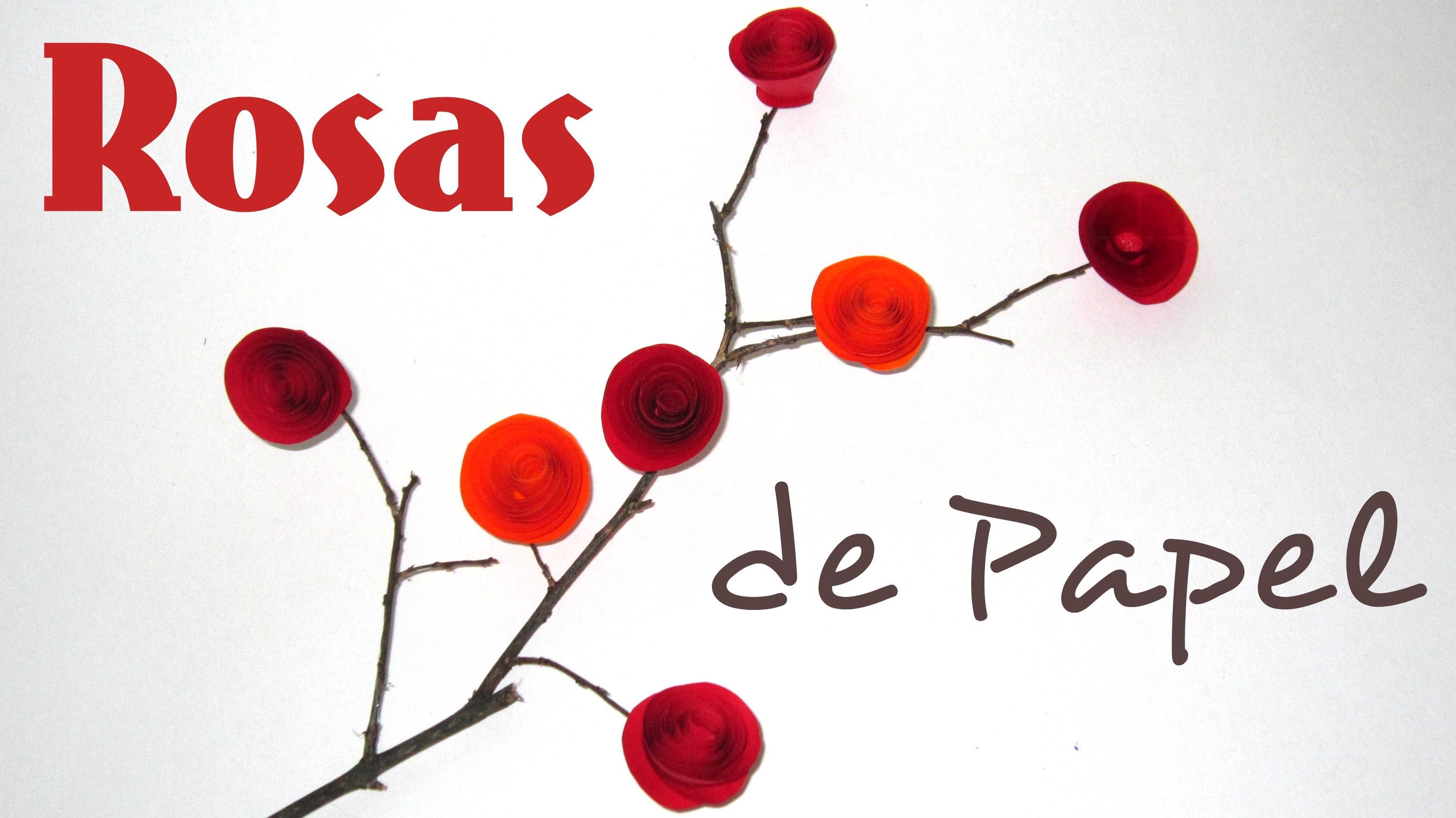 Como fazer Rosa de Papel - DIY Paper Roses