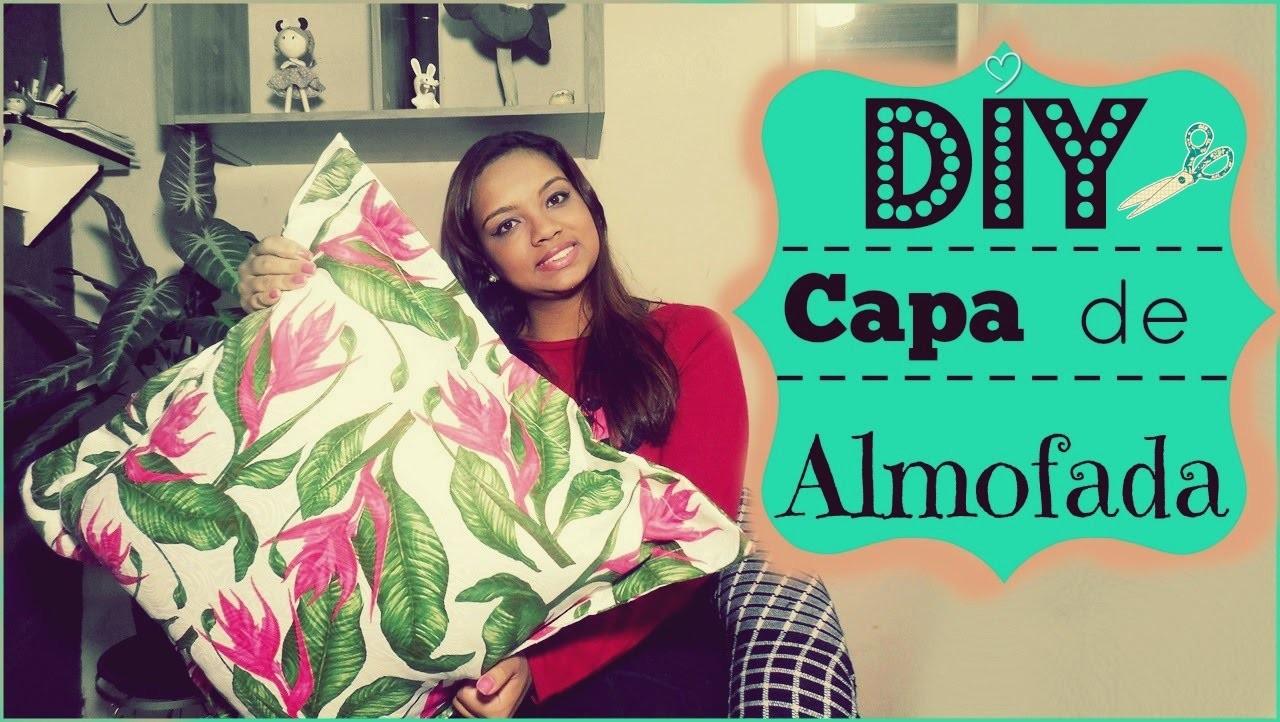 DIY• Como fazer uma capa de almofada com bordas e zíper escondido ♥