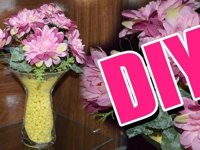 DIY DECORAÇÃO PARA SALA - Faça Você Mesma - Jarro com Flores