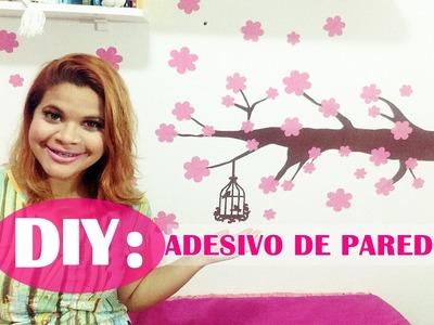 DIY: FAÇA VOCÊ MESMO - ADESIVO DE PAREDE | Canal da Juuh