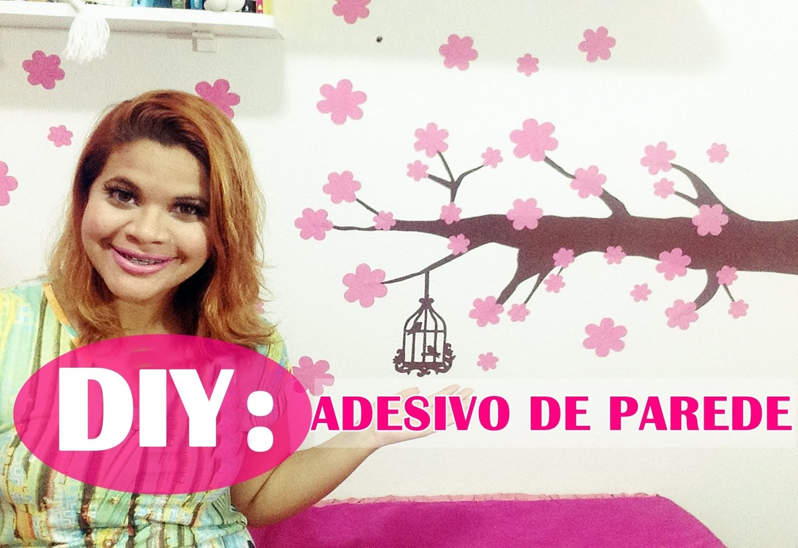 DIY: FAÇA VOCÊ MESMO - ADESIVO DE PAREDE   Canal da Juuh