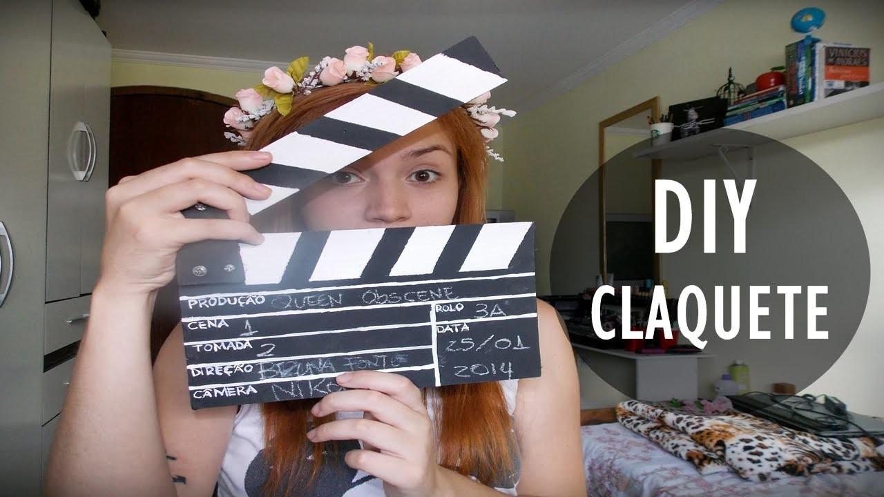 DIY: Faça Você Mesmo: Claquete de Cinema (Clapperboard)