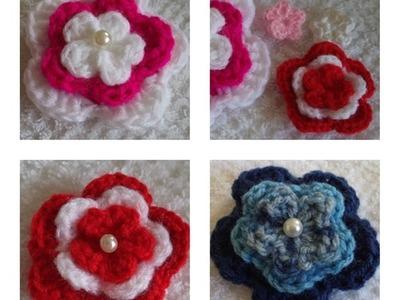Diy - Flor em Crochê Nº 4 Ingrid - 3 Camadas - Fácil - Graça Tristão