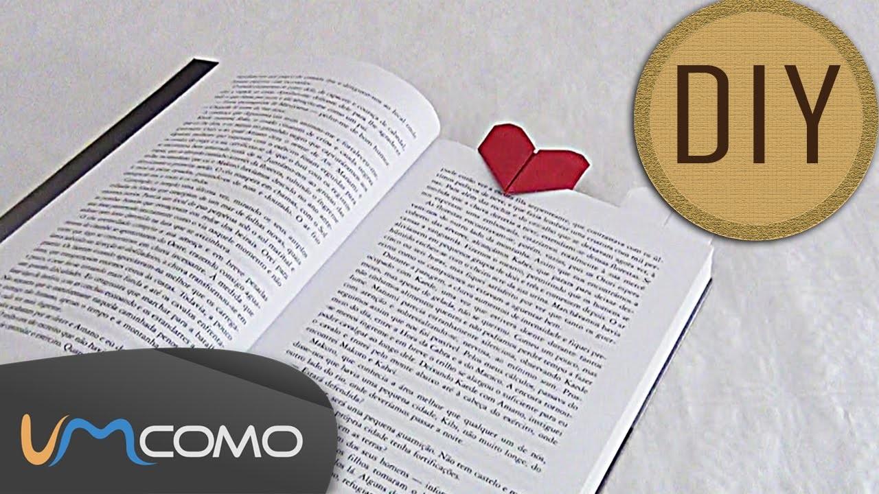 DIY - Marcador de Livro em Forma de Coração