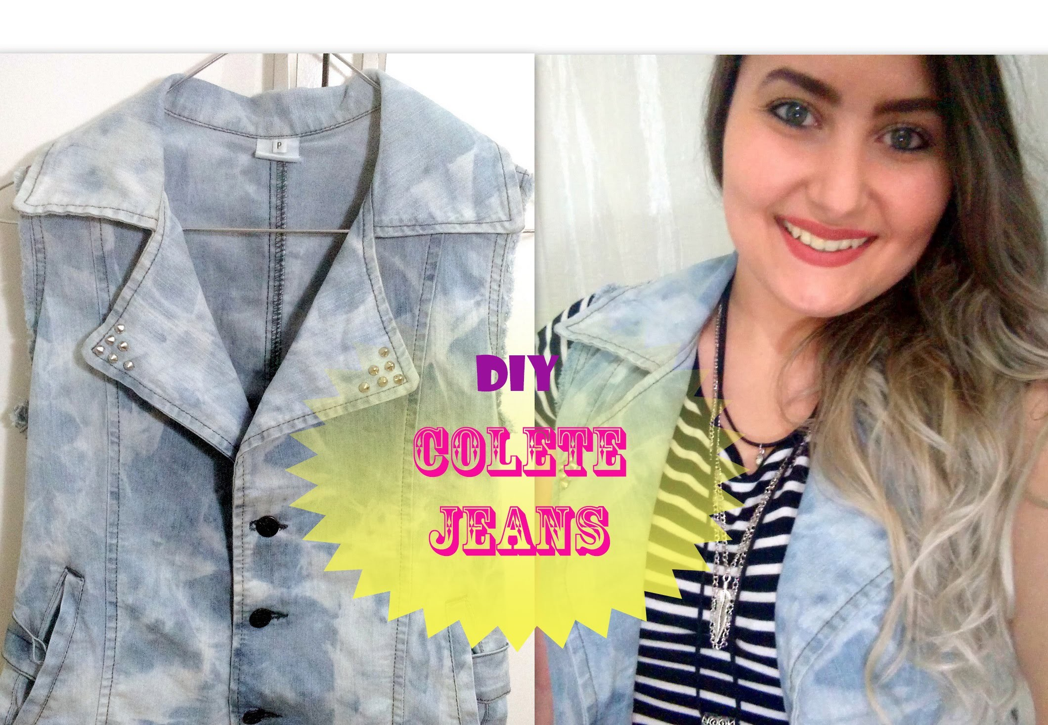 Diy: Transformando sua jaqueta em colete jeans