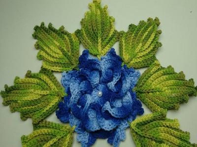 Folhas De Crochê Para Aplicação - Jogo de Banheiro Nº03