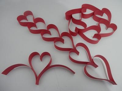 Tirinha. cortininha de corações de papel - Tutorial