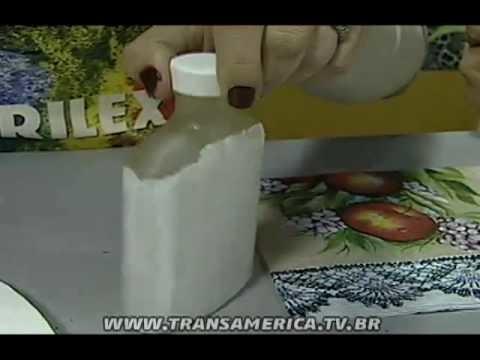 Tv Transamérica - Artesanato: Técnica de craquele em vidro em relevo - Parte 1