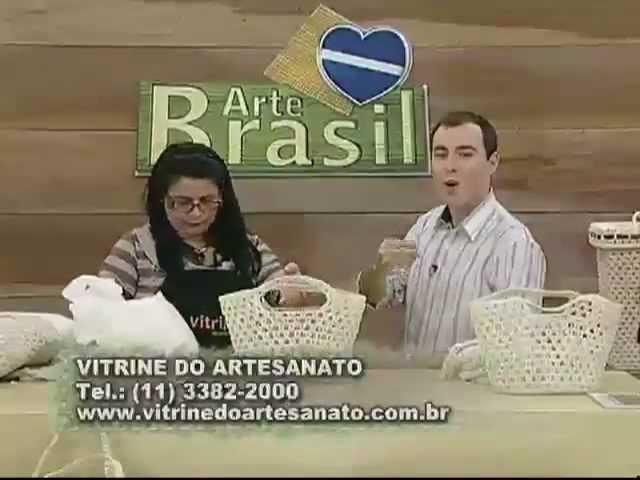 ARTE BRASIL - CARMEM FREIRE - SACOLA DE CROCHÊ ENDURECIDO (26.07.2011)