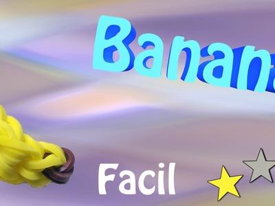 Como Fazer uma Banana de Elasticos coloridos sem tear