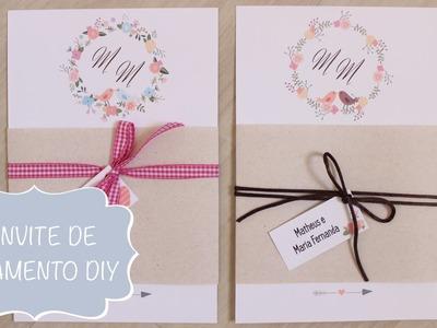 Convite de Casamento de Pássaros --- DIY --- Faça Você Mesmo
