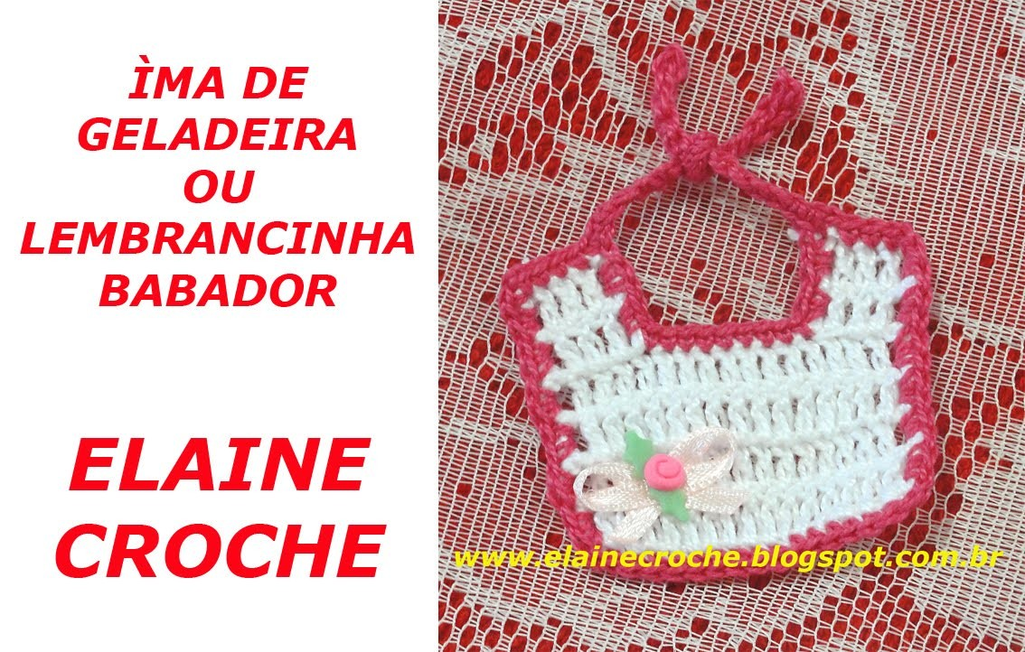 CROCHE - ÍMÃ DE GELADEIRA OU LEMBRANCINHA BABADOR