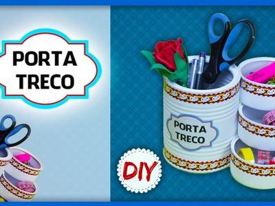 DIY: Artesanato Reciclado - Porta Treco Usando Latas