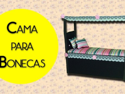DIY - CAMA DRACULAURA. HOW TO MAKE A DOLL BED (MONSTER HIGH)