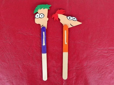 DIY - Marcador de livro Phineas e Ferb   Especial Dia das Crianças