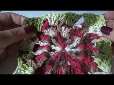 Flor catavento em crochê